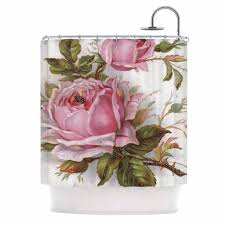 Pink And Grey Shower Curtain by Waverly Vintage Rose Shower Curtain U2022 Shower Curtain