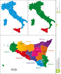 Map Of Italy And Sicily by Region Of Italy Sicily Stock Photo Image 14673060