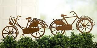 bicycle garden ornament with stake 63x 33cm co uk