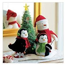hallmark 2006 merry trio techno plush snowman