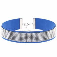 rhinestone choker collar necklace images Black leather rhinestone choker necklace women crystal choker jpg