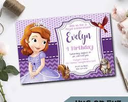 princess sofia party etsy
