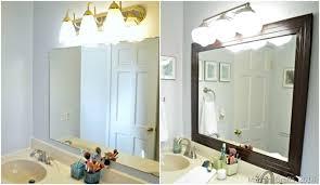 Framing A Bathroom Mirror Framed Bathroom Mirror Mad In Crafts Regarding Wall Mirror With