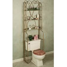 Bathroom Space Saver by Luxury Bathroom Space Savers Over Toilet With Venetian Gold Powder