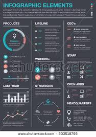 minimal business infographics vector elements resume stock vector