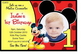 Mickey Mouse 1st Birthday Card Free Mickey Mouse 1st Birthday Invitation Orderecigsjuice Info