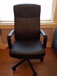 black leather desk chair ikea u0027millberget u0027 black leather desk office chair in dunmurry