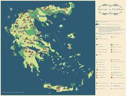 Greece On A Map by Map Of Greece Noro