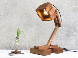 office lamp contemporary wooden swing arm kran gigant