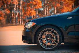 black car which color rims