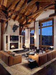 mountain home interiors beautiful home interiors best modern lodge ideas on