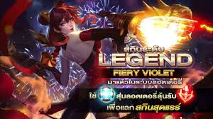 garena rov violet new legendary skin fiery youtube