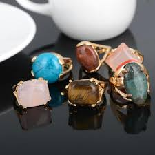 stone rings wholesale images 2018 wholesale colorful natural stone rings for men women gold jpg