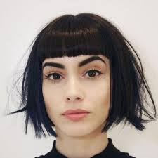 blunt fringe hairstyles best 25 blunt fringe ideas on hair with bangs