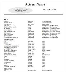 sample of acting resume 22 sample of acting resume template