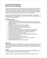 human resource management job description job description forhuman
