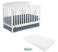 Graco Crib Mattress Size by Graco Benton 5 In 1 Convertible Crib With Bonus Mattress White