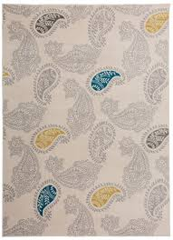 Paisley Area Rug Bungalow Eason Contemporary Modern Floral Paisley Pattern