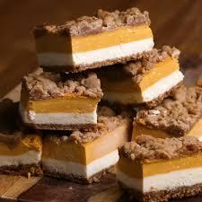 Pumpkin Bars With Crumb Topping Pumpkin Cheesecake Bars Recipe By Tasty