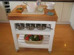 island trolley kitchen made style butchers block table trolley kitchen