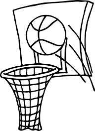 ball shot playing basketball coloring page wecoloringpage