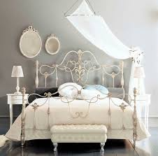 White Metal Bed Frame Queen Wrought Iron Bed Frame Queen Genwitch