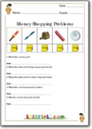 money word problem worksheet learning money worksheets for kids