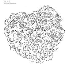 bouquet of flowers coloring page drawing hearts and roses coloring