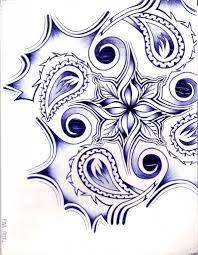 flower tribal drawing drawing sketch library