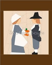 thanksgiving pilgrim paper piecing quilt foundation pieced