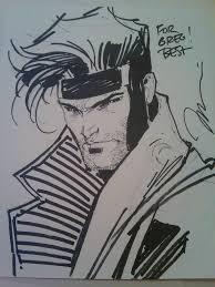 gambit by jim lee in greg hyatt u0027s jim lee gambit comic art