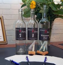 wine bottle wedding guest book wedding guestbook alternative message in a bottle southern