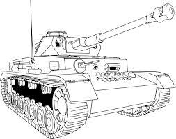 Coloriage char de guerre à imprimer