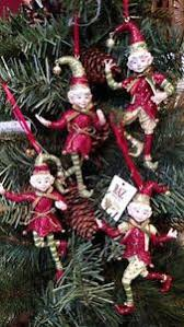 set 4 nwt raz imports 5 santa s elves ornaments tree