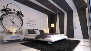 fascinating black and white cool bedroom for guys decoration using