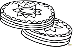 cookies with chocolate top coloring page free printable coloring