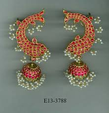 ear cuffs india gold jewellery ruby pearl gold ear cuffs retailer from hyderabad
