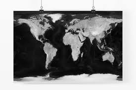 Earth World Map by Black U0026 White Natural Earth World Maps Customaps