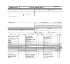 medical report template 9 free word pdf documents download