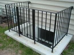 basement egress window with wrought iron gate black maybe not