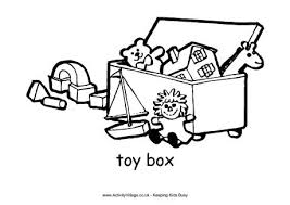 Free Designs For Toy Boxes by Toy Box Colouring Page