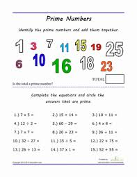 finding prime numbers worksheet education com