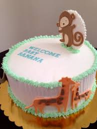 a party style modern animal baby shower cake