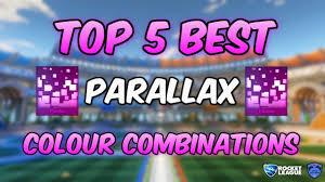 Best Colour Combination by Top 5 Best Parallax Colour Combinations Rocket League Youtube