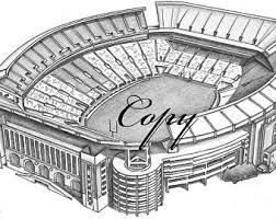 stadium drawing etsy