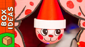 diy christmas ornament cat craft ideas for kids on box