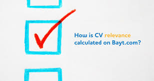 is cv how is cv relevance calculated on bayt bayt