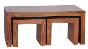 Wohnzimmer Tisch Wohnzimmerm El Wohnling Couchtisch Mumbai Mit Hocker Massiv Holz Sheesham 110cm