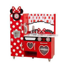 Red Kitchen Set - kidkraft disney jr minnie mouse vintage kitchen set