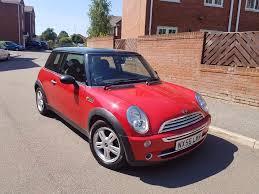 2006 mini cooper 1 6 red black roof 1 owner long mot half leathers